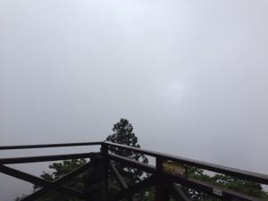 本来なら琵琶湖が見えるはず…